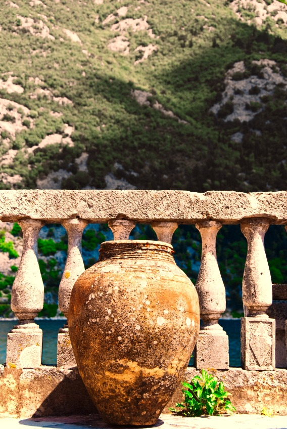 Vase on Balcony - Kotor, Montenegro