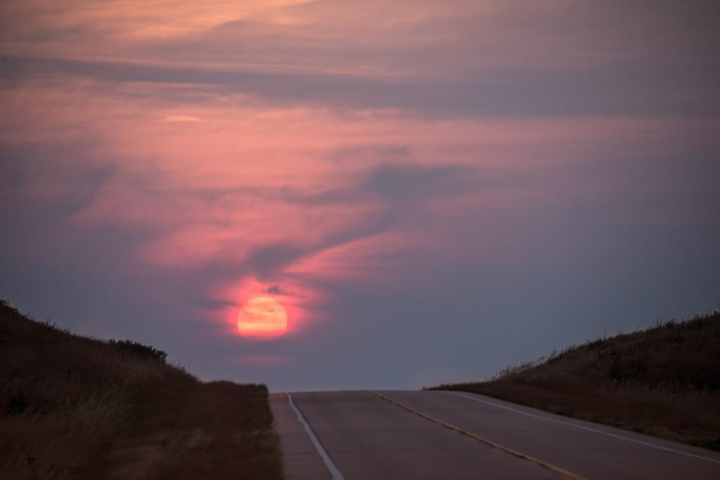 Fiery Sunset, Nebraska